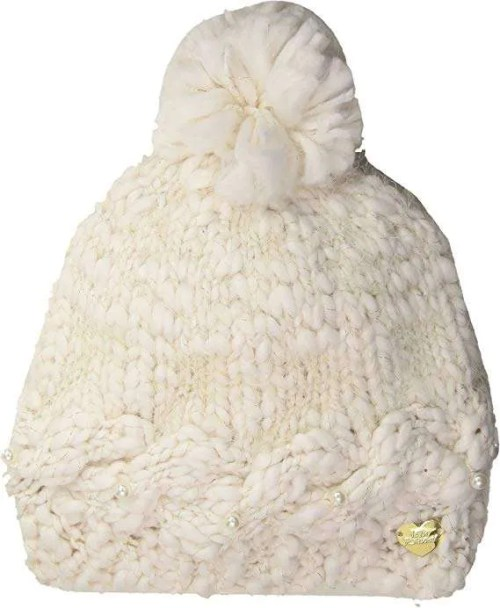 Betsey Johnson Women's Pearly Beanie with Pom