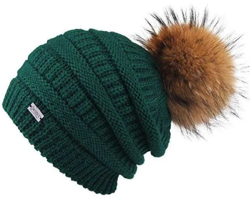 FurTalk Winter Pom Beanie Hat