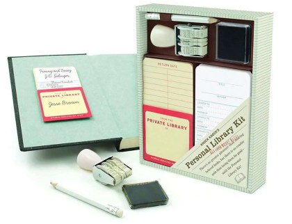 Gifts for Book Lovers That Aren't Books, Knock Knock Personal Library Kit