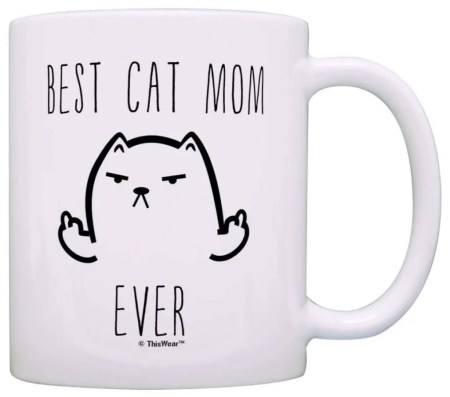 best gifts for cat lovers, Best Cat Mom Ever Mug
