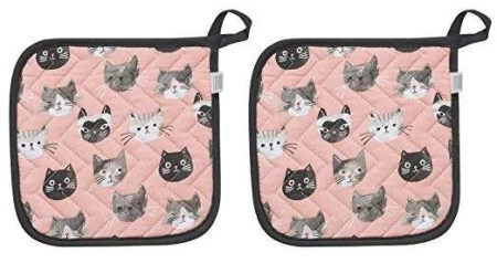 inexpensive gifts for cat lovers, Cats Meow Potholders