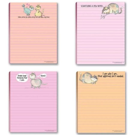 inexpensive gifts for cat lovers, Funny Cat Theme Note Pads