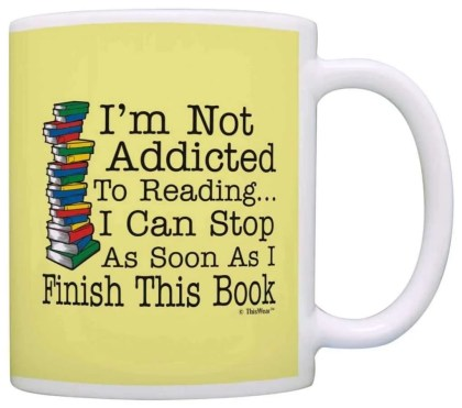 literary gift ideas, Not Addicted to Reading