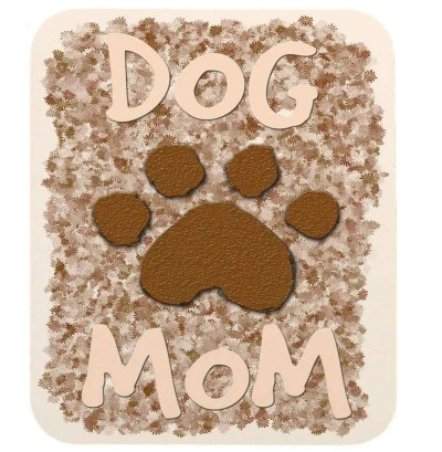 Dog Mom Paw Print Mouse Pad, unique gift for dog lovers