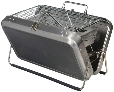 Kikkerland Portable BBQ Suitcase, valentines day gift for husband
