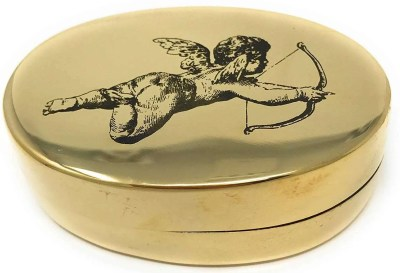 Madison Bay Company Valentines Cupid Oval Brass Trinket Box, best valentines day gifts for girlfriend