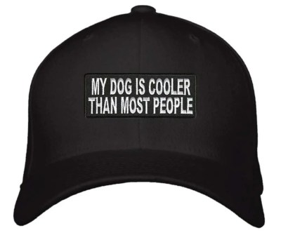 My Dog Is Cooler Than Most People Hat, unique gift for dog lovers