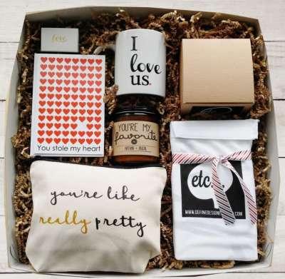 Valentine Day Gift Set Basket, best valentines day gifts for girlfriend