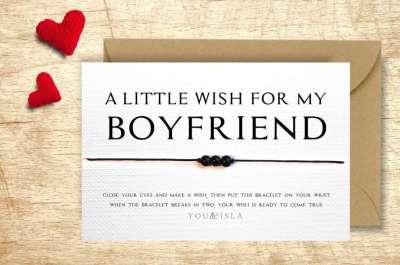 Wish Bracelet, valentines day gift for husband