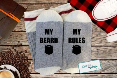 My Beard My Rules Novelty Socks