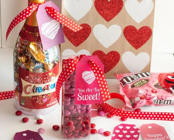 Valentine's Day Mini Candy Boxes & Printable Gift Tags