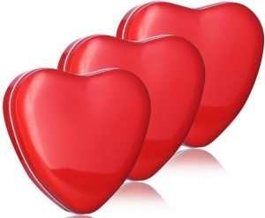 heart shaped tin boxes