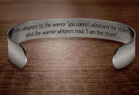 Fate Whispers to the Warrior Bracelet, motivational gifts