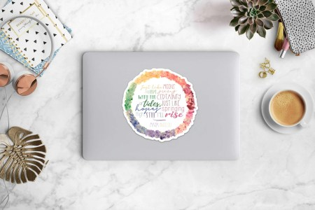 Maya Angelou Quote Laptop Decal Sticker, motivational gifts