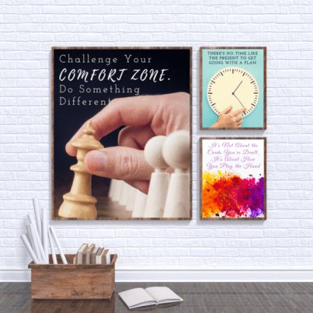 Motivational Wall Art Pack Bundle, motivational gifts