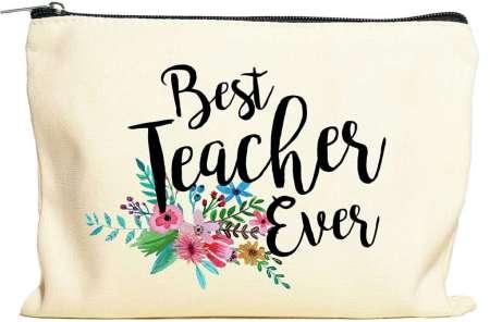 Best Teacher Ever Make Up Bag