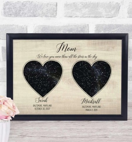 Mothers Day Personalized Star Map