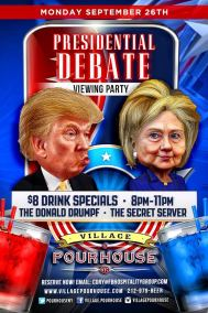 Village Pourhouse presidential debate Monica DiNatale nyc