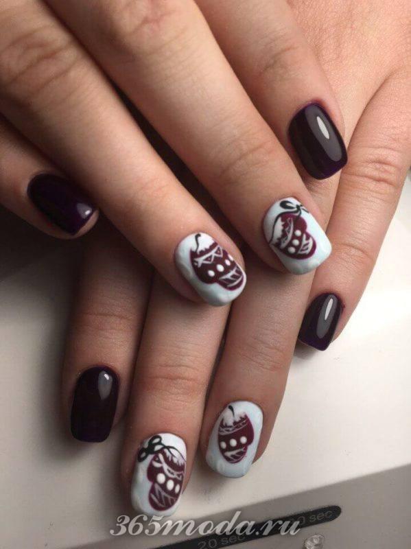 дизайн ногтей новый год 2019 1