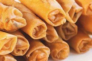 Μοναδικά και τραγανά spring rolls με γαρίδες και μοτσαρέλα!