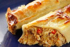 Κανελόνια με μανιτάρια και κρέμα γιαουρτιού