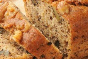 Γλυκό ψωμί με μπανάνα, καρύδια και σοκολάτα