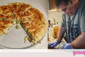 Δημήτρης Σταρόβας: Δεν υπάρχει η χορτόπιτά του στο τηγάνι- Γίνεται στο τσακ μπαμ (Photos & Video)