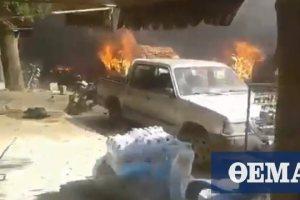 Συρία: Έκρηξη σε βυτιοφόρο στο Αφρίν άφησε τουλάχιστον 22 νεκρούς