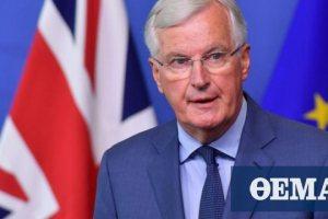 Brexit: «Είτε θα υποχωρήσει το Λονδίνο είτε θα υπάρξει αδιέξοδο» λέει ο Μισέλ Μπαρνιέ