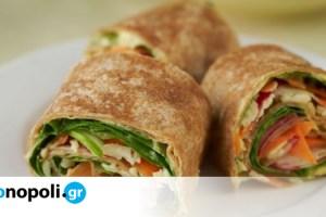Υγιεινά Σνακ για το Σχολείο #1: Τορτίγια με λαχανικά