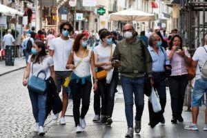 Κορωνοϊος – Ιταλία : 1.912 νέα κρούσματα, ο υψηλότερος αριθμός από το τέλος του lockdown