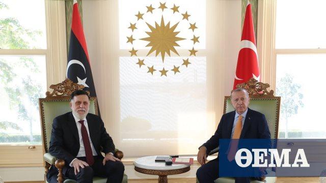 Ο Ερντογάν συναντήθηκε με τον Φαγέζ αλ Σάρατζ