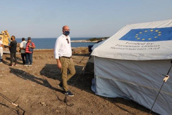 Σαρλ Μισέλ από τη Λέσβο: Η ΕΕ πρέπει να καθορίσει τους όρους μιας αποτελεσματικής αλληλεγγύης στο μεταναστευτικό