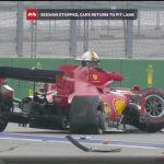 Formula 1: Ο Φέτελ διέλυσε τη Ferrari του και παραλίγο να πέσει πάνω του ο Λεκλέρ