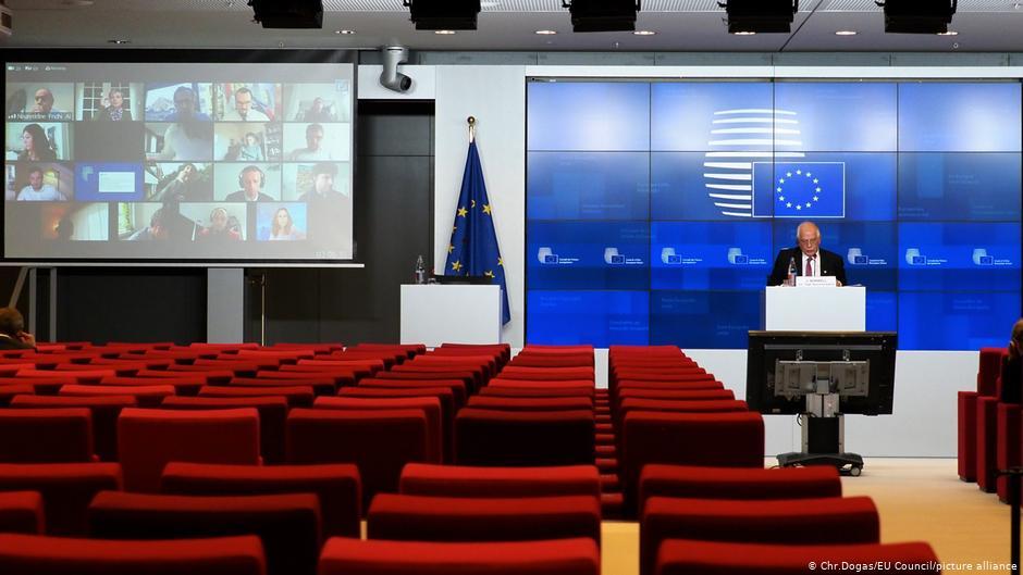 Δημοσιογράφος τρυπώνει σε τηλεδιάσκεψη στις Βρυξέλλες | DW | 21.11.2020