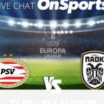 Live Chat Αϊντχόφεν-ΠΑΟΚ 3-2 (Τελικό)