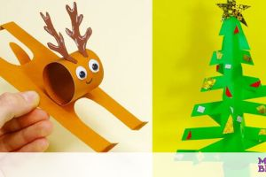 Εύκολες χριστουγεννιάτικες χειροτεχνίες για παιδιά με χαρτί (vid)