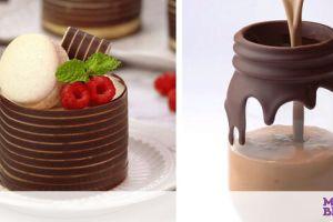 Δέκα ιδέες για να διακοσμήσετε με σοκολάτα τα γλυκά σας (vid)
