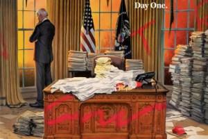 TIME : Το συγκλονιστικό εξώφυλλο για την πρώτη ημέρα του Μπάιντεν στο Οβάλ Γραφείο