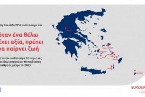Eurolife FFH: Υιοθετεί 10 ακριτικές περιοχές και δημιουργεί παιδικούς σταθμούς