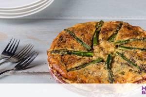 Ομελέτα φούρνου με σπαράγγια - Ιδανική και ως κυρίως γεύμα