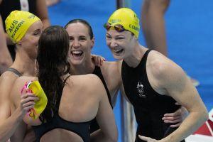 Χρυσό μετάλλιο και παγκόσμιο ρεκόρ η Αυστραλία στα 4Χ100μ. ελεύθερο γυναικών