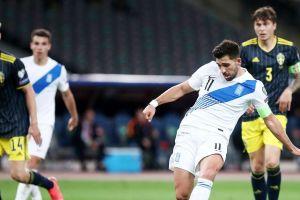 Ελλάδα - Σουηδία: Το 1-0 από τον Μπακασέτα έπειτα από συνδυασμό με τον Δουβίκα