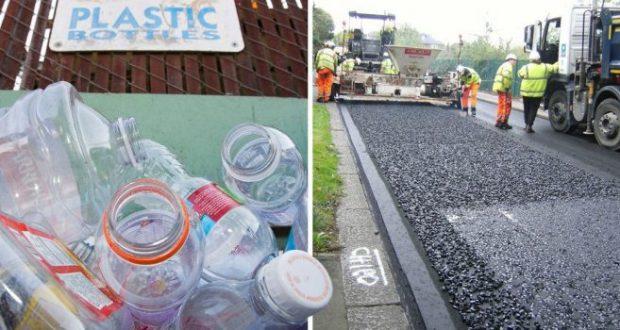 Те превръщат пластмасовите бутилки в асфалт