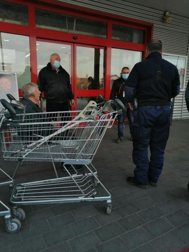 Старец припадна в Кауфланд