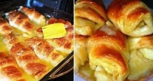 Увивам ябълките в тесто поливам щедро със Спрайт и пека: