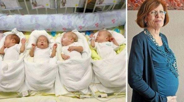 Жена на 65 години родила четиризнаци. Ето как се развил животът на семейството