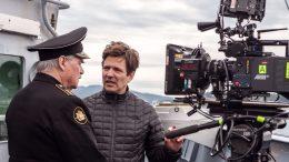 Thomas Vinterberg på optagelse på KURSK med skuespiller Peter Simonischek. Foto: Mika Cotellon.