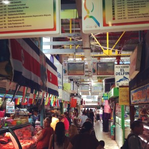 One of Alajuela's many confusing markets
