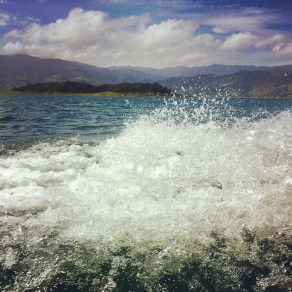 Splashing over Lake Arenal